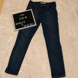 Levi's High Waisted Skinny Jeans